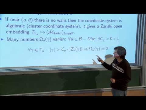 Maxim Kontsevich - Wall-crossing and geometry at infinity of Betti moduli spaces