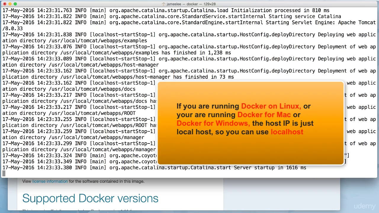 010 Docker Port Mapping and Docker Logs Command on