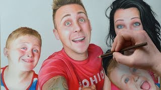 Drawing ROMAN ATWOOD AND HIS FAMILY (NOAH, KANE, BRITTNEY) - SpeedDrawing | Nimauke