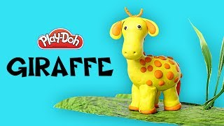 Play Doh Videos, Play Doh Giraffe, How To Make Giraffe With Play-doh, Silly Kids