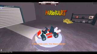 Teegan plays roblox! Mario kart 7