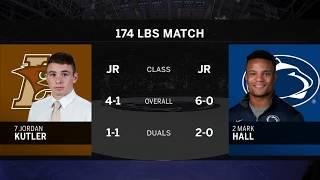 174 LBS: #2 Mark Hall (Penn State) vs. #7 Jordan Kutler (Lehigh) | Big Ten Wrestling
