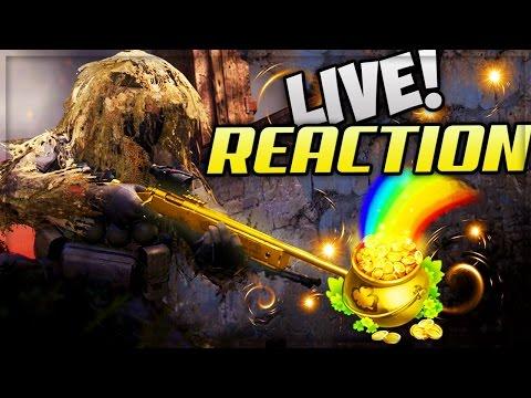 "UNLOCKING GOLD SNIPER!! ""LIVE REACTION"" (MODERN WARFARE REMASTERED)"