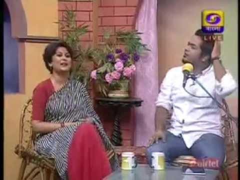Durnibar Saha at DD Bangla