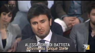 Alessandro Di Battista (M5S): La gabbia LA7 su  Immigrazione (Integrale)