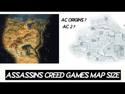 Assassin S Creed Games All Maps Size Comparison 2019 Youtube