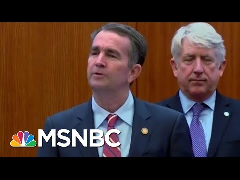 VA Gov. Northam's Medical School Yearbook Page Shows Men In Blackface, KKK Robe | MTP Daily | MSNBC