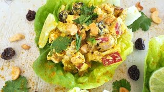 Lunch Recipe: Curried Chicken Salad Lettuce Wraps by Everyday Gourmet with Blakely