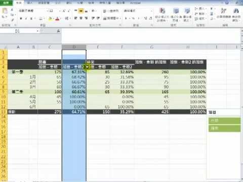 Excel 2007 樞紐分析表Part1   Doovi