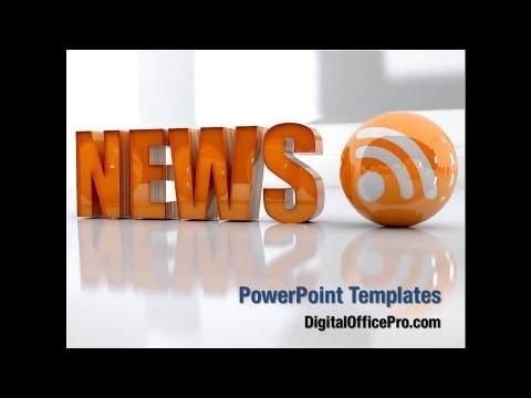 latest news powerpoint template backgrounds - digitalofficepro, Modern powerpoint
