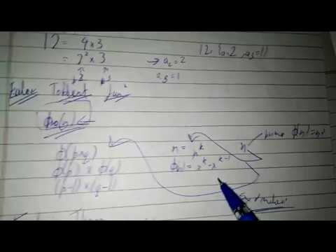 Euler totient function  example