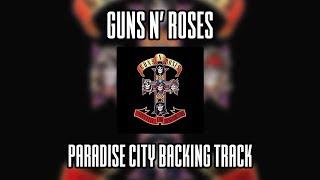 Guns N' Roses Paradise City backing track (Lead guitar)