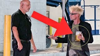 ESCAPING ARREST BY USING MAGIC!!! (Pranking Confused Security Guard!)