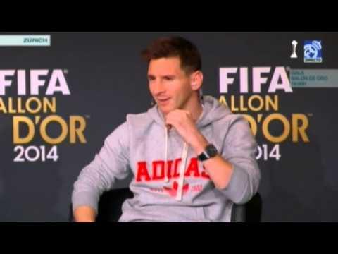 """Lionel Messi """"me gustaria jugar con Cristiano Ronaldo"""" balon de oro 2015"""