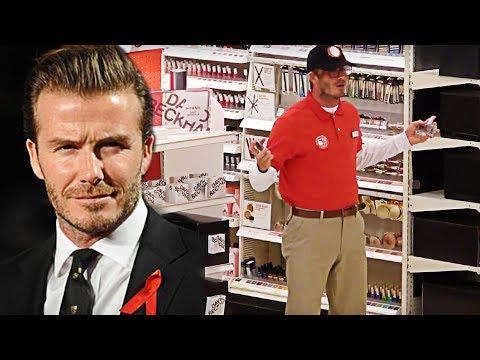 David Beckham VERKLEIDET sich als PARFÜMVERKÄUFER!