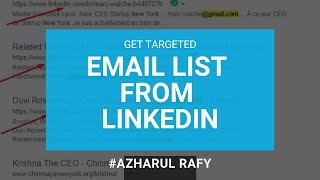 How to Get Email Address From Linkedin - Find UNLIMITED Emails for your Niche