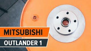 Como trocar discos de travão dianteiros e pastilhas de travão Mitsubishi Outlander 1 TUTORIAL