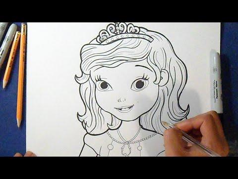 Como desenhar Princesa Sofia - Disney - YouTube