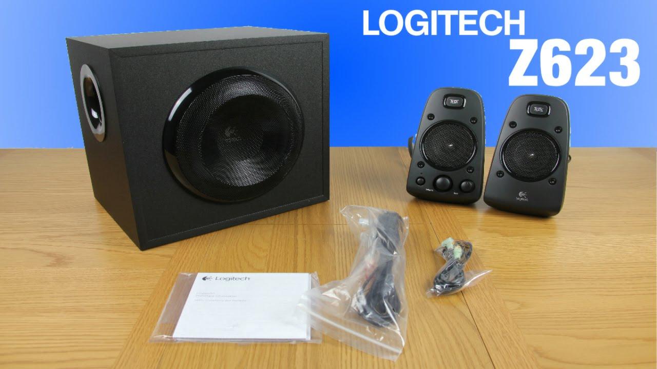 Logitech 2 1 Z623 Speaker System Unboxing Review