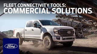 homepage tile video photo for Fleet Connectivity Tools | Ford Commercial Solutions | Ford