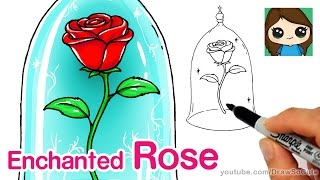 How to Draw a Rose - Beauty and the Beast
