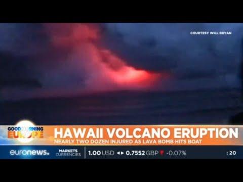 Hawaii Volcano Eruption: nearly two dozen injured as lava bomb hits boat
