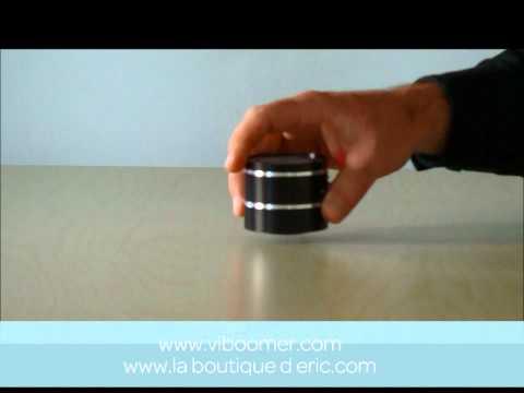 ViBoomer - Mini-enceinte à vibration et lecteur mp3 intégré