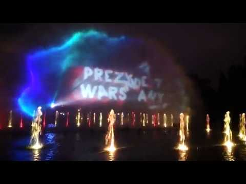 Warsaw - The water fountain show