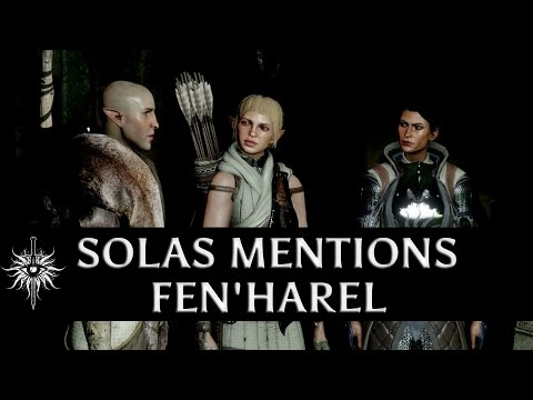 Dragon Age: Inquisition - Jaws of Hakkon DLC - Solas mentions Fen'Harel