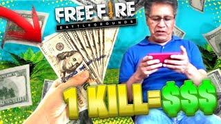 TE DOY $100 POR CADA KILL EN FREE FIRE