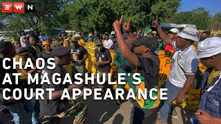 Hundreds of ANC members have descended on the Bloemfontein magistrate court – in support of ANC Secretary General Ace Magashule – who is appearing on corruption charges. Chaos erupted outside the court after his supporters tried to enter the building.