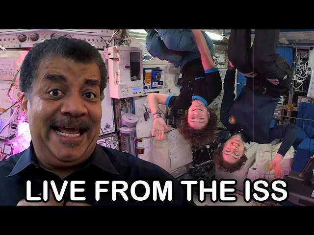 Neil deGrasse Tyson Chats with International Space Station Astronauts Christina Koch & Jessica Meir