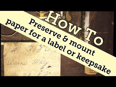 Mounting a paper label or tag keepsake DIY (vendor tip)