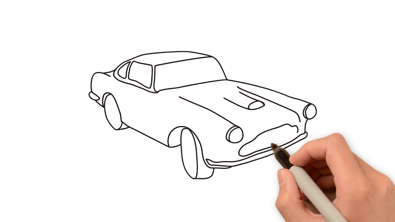 Easy Way To Draw Car Youtube