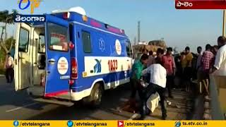 1 Killed , 2 Injured | Car Hits Divider in Palm | Wanaparthy Dist