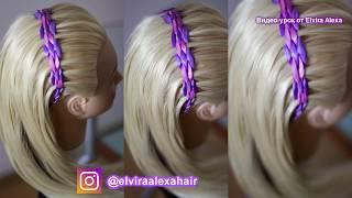 Ободок из лент  ПРОСТО и БЫСТРО  Причёска для девочки