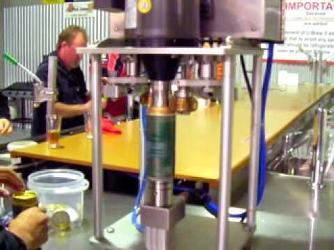 canning machine at work at the hume u brew it youtube. Black Bedroom Furniture Sets. Home Design Ideas