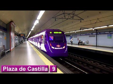 Plaza de Castilla L9 : Metro de Madrid ( Serie 9000 - 5000 )