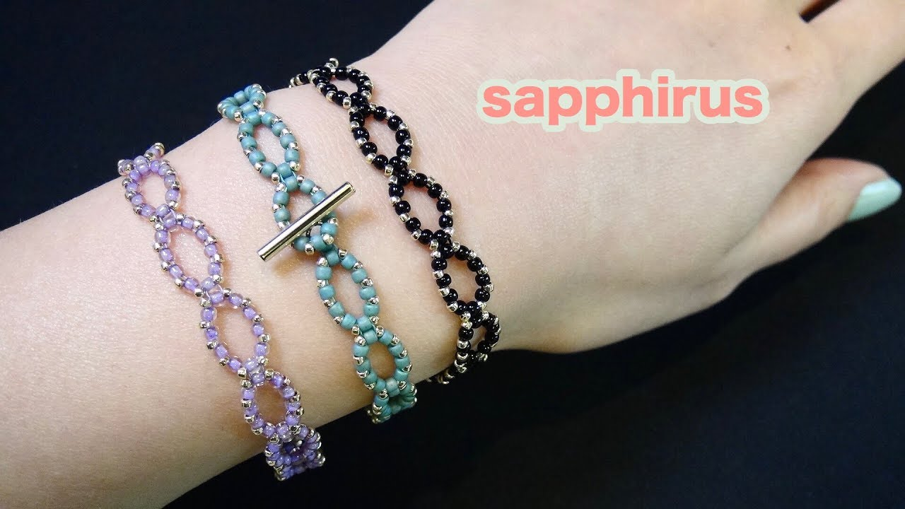 2c556c419f644c 【ビーズステッチ】簡単レシピ シードビーズだけで作るブレスレットの作り方 緩く編む練習 How to make a bracelet with  seed beads.