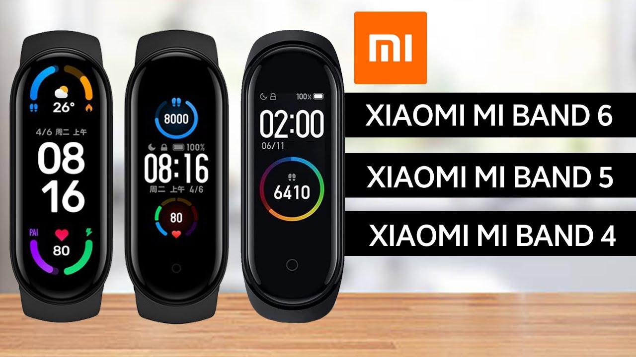 Xiaomi Mi Band 6 Vs Mi Band 5 Vs Mi Band 4 Specifications Comparison
