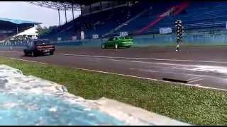 Drag race sentul 2015 seri 2 . Ford champ vs Mitsubishi Galant