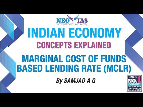 Marginal Cost of Funds Based Lending Rate | Money and Banking | Indian Economy