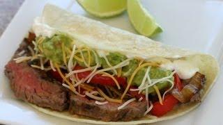 Steak Fajitas With Skirt Steak - Best Way To Slice The Steak By Rockin Robin