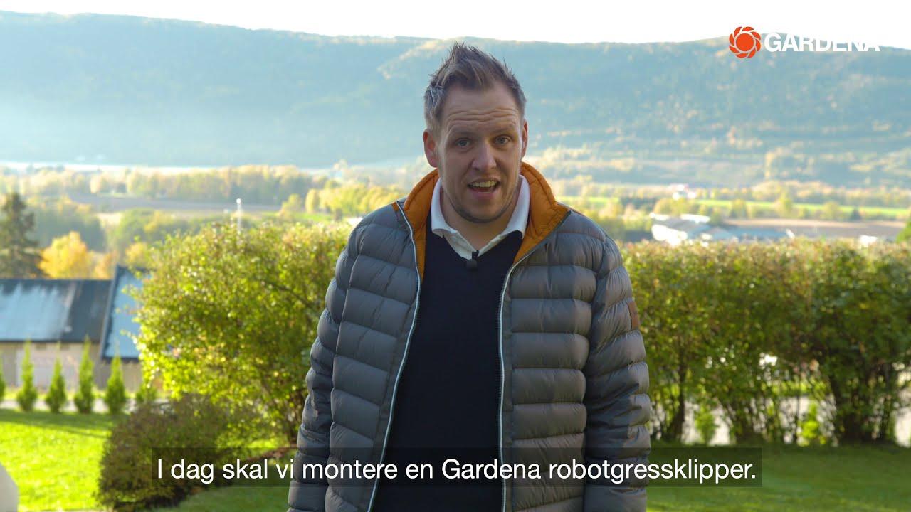 Installasjon av Gardena robotgressklipper og smart gateway