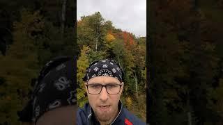[EN/EO] Enjoying the Fall Colors on the Hub Trail (Sault Ste. Marie) #Shorts #Esperanto
