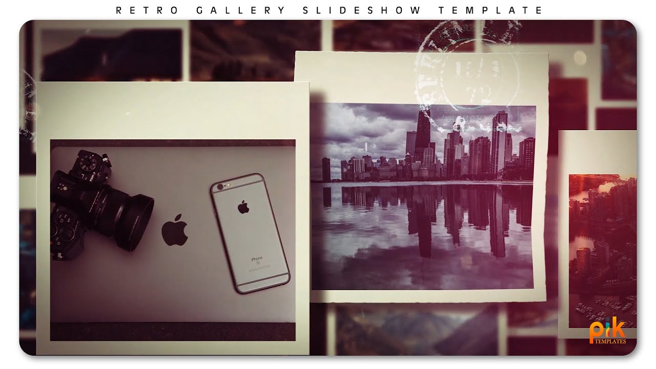 Free After Effect Slideshow Template #11 - Retro Gallery | Pik Templates