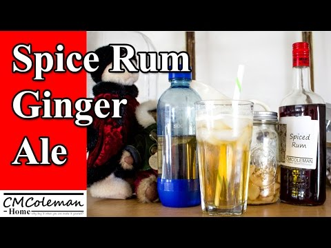 Spiced Rum Ginger Ale Cocktail