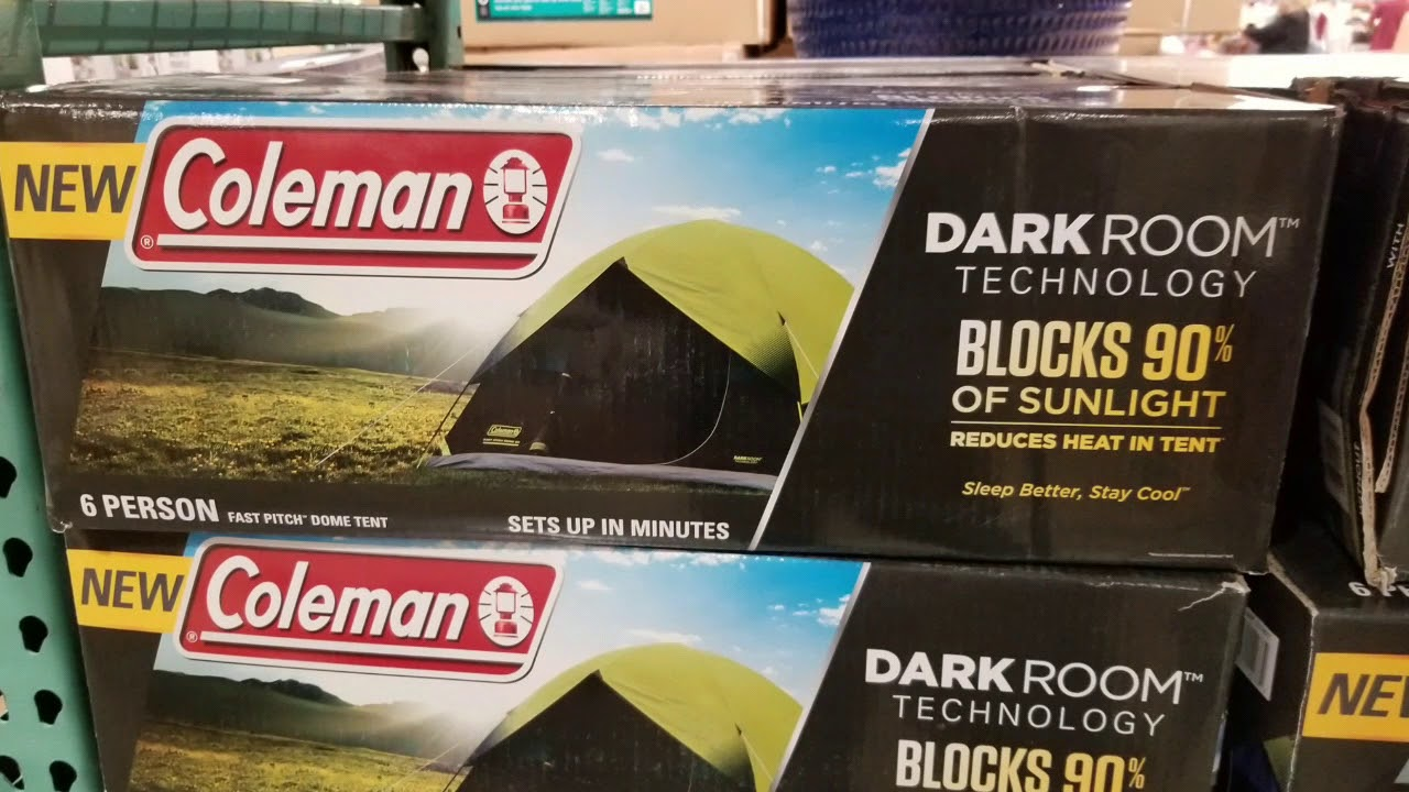 Coleman Dark Room 6 Person tent! $99!!! & Coleman Dark Room 6 Person tent! $99!!! - YouTube