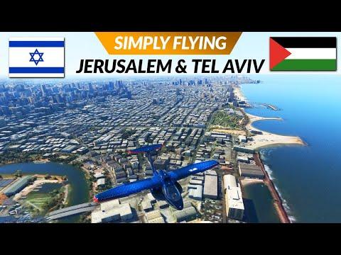 Flight Simulator 2020 Jerusalem \u0026 Tel Aviv - Israel