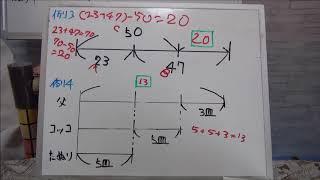 この動画では小学生の算数の線分図の基本を勉強している小学生の子供の...